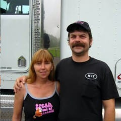 Truck Driving School Graduates Tony and Kathy Bailey: October 2006