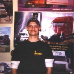 Truck Driving School Graduate Tim Modlin: May 2002
