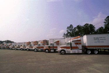 Trucks used by National Truck Driving School in its fleet driver training programs